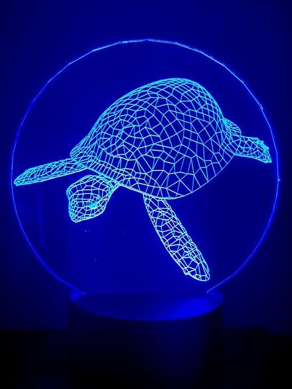 Lamp 3D design: sea turtle