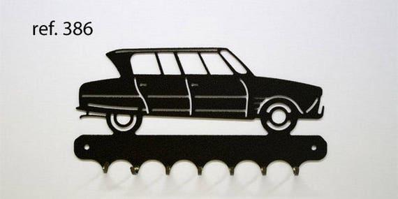Hangs 26 cm pattern metal keys: 6 Citroën friend