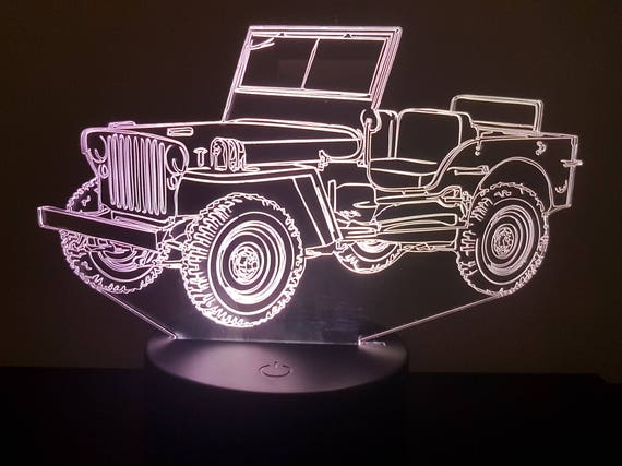 Lamp 3D pattern: Jeep Willys