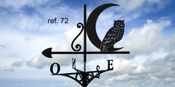 Weathervane with roof Moonlight OWL