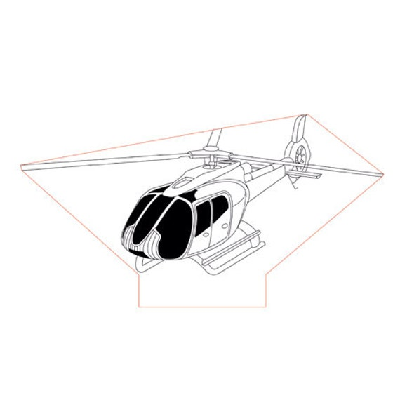 Lamp 3D design: helicopter