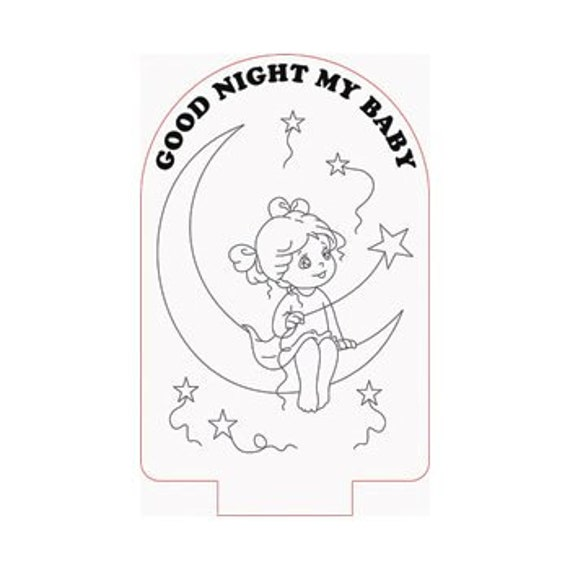 Lamp 3D pattern: good night my baby