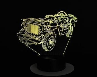 Lamp 3D design: military jeep Wyllis