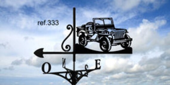 Weathervane with roof jeep