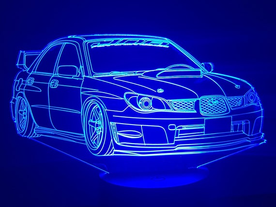 SUBARU - Mood lamp 3D led, laser engraving on acrylic, usb cable or battery power.