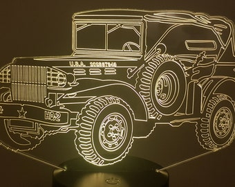Lamp 3D pattern: Dodge WC 58 Command as military