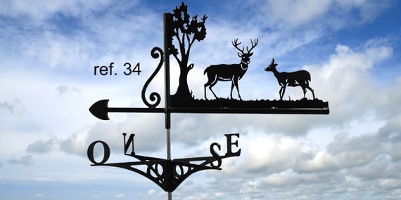 Weathervane with roof stag and DOE