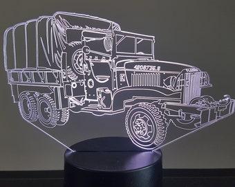 Lamp 3D pattern: GMC 352 military