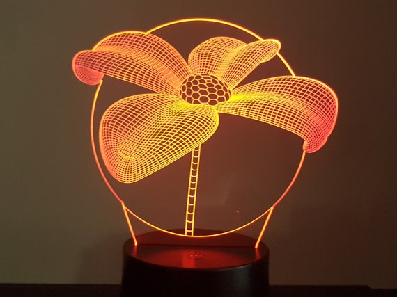 Lamp 3D design: flower