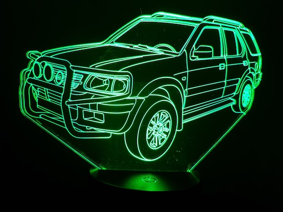 OPEL FRONTERA - Mood lamp 3D led, laser engraving on acrylic, usb cable or battery power.
