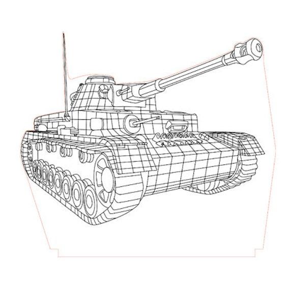 Lamp 3D pattern: tank