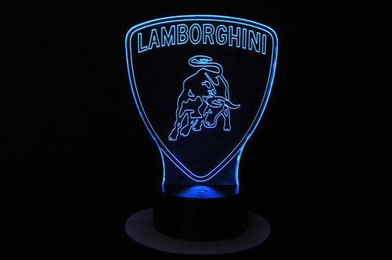 Lamp 3D pattern: Lamborghini logo