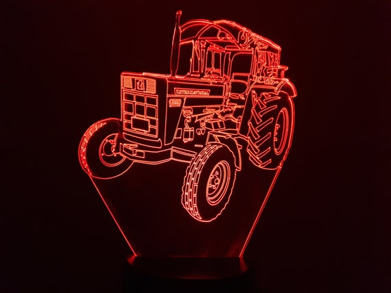 Tractor IH (international Harvester) C- 3D LED mood lamp, laser engraving on acrylic, battery power or USB cable