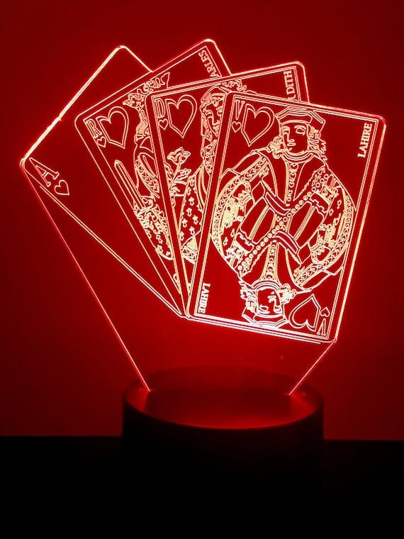 Lamp 3D design: poker cards
