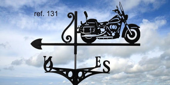 motorcycle roof weather vane. Harley softail compatible drawing