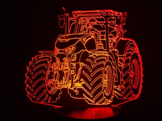 TRACTOR box OPTUM - Mood lamp 3D led, laser engraving on acrylic, usb cable or battery power.