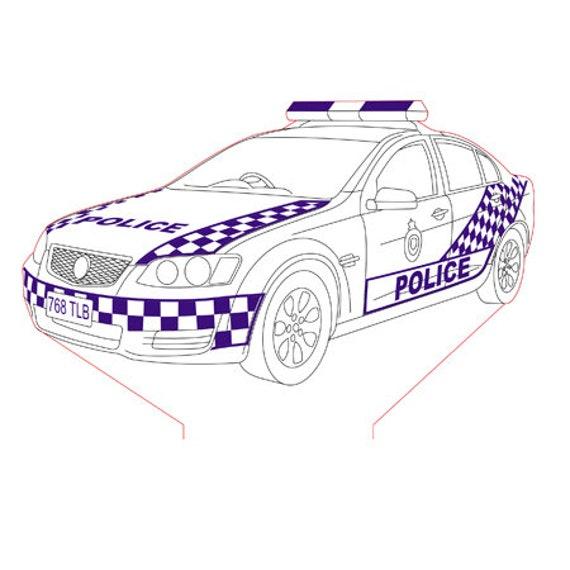 Lamp 3D design: police England