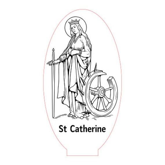 Lamp 3D design: St. Catherine