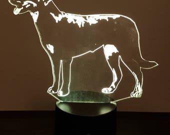 Lamp 3D pattern: beauceron