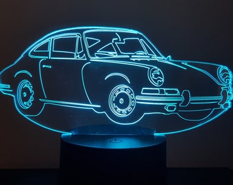Lamp 3D design: porsche 911 Cup