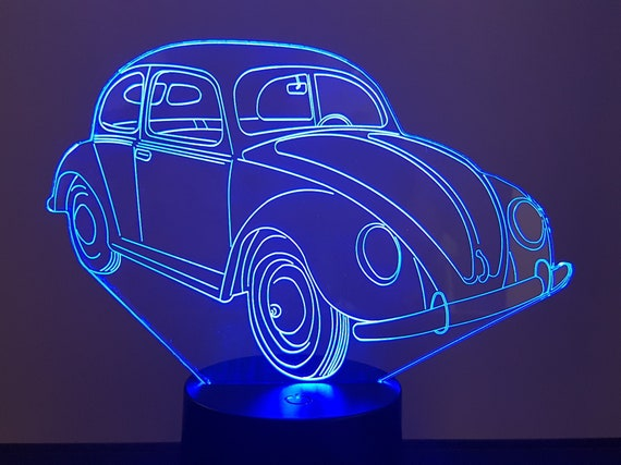 VOLKSWAGEN VW Split COX - Mood lamp 3D led, laser engraving on acrylic, usb cable or battery power.