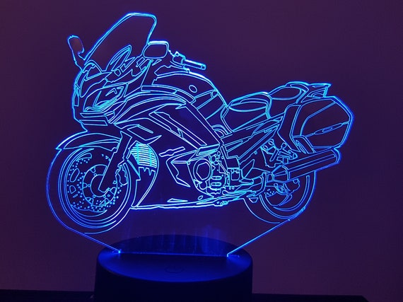 YAMAHA motorcycle FJR 1300 - Mood lamp 3D led, laser engraving on acrylic, usb cable or battery power.