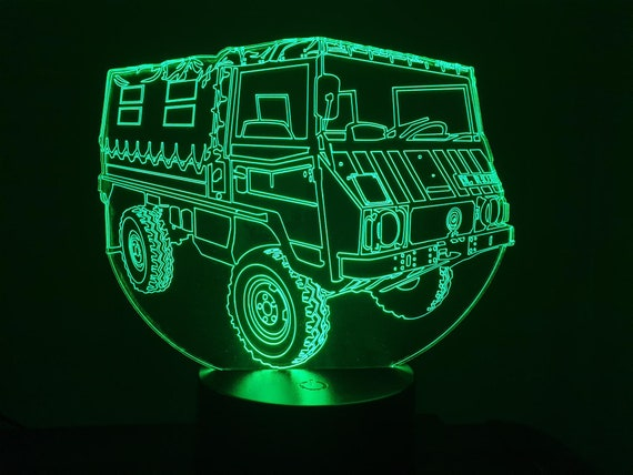 PINZGAUEUR STEYR - Mood lamp 3D led, laser engraving on acrylic, power by USB cable or batteries