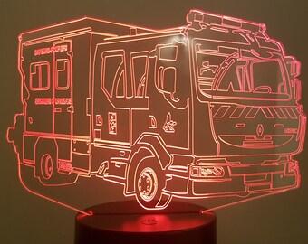 Lamp 3D pattern: fire truck PSE5G