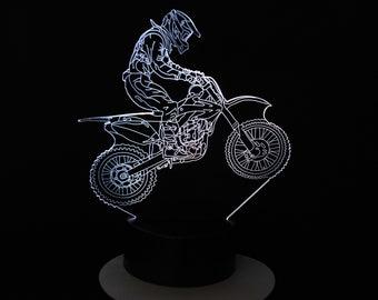 Lamp 3D pattern: motocross