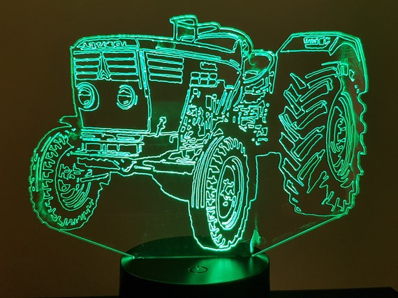 TRACTOR DEUTZ - Mood lamp 3D led, laser engraving on acrylic, power by USB cable or batteries