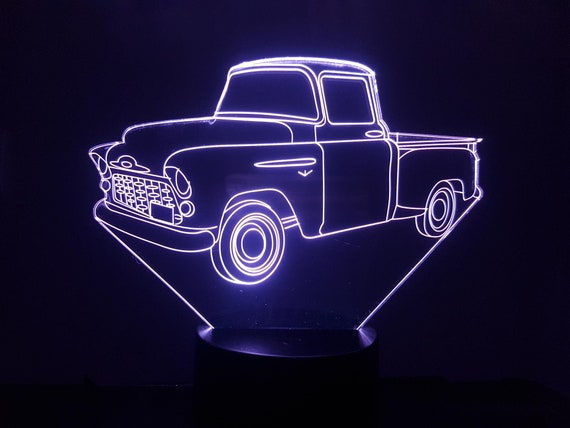 PICKUP - Mood lamp 3D led, laser engraving on acrylic, power by USB cable or batteries
