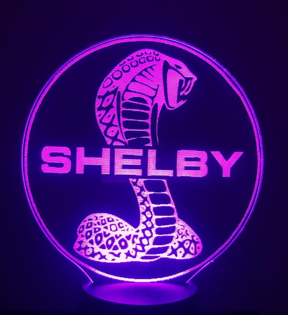 FORD SHELBY (L)-led 3D ambient lamp, laser engraving on acrylic, battery power or USB cable.