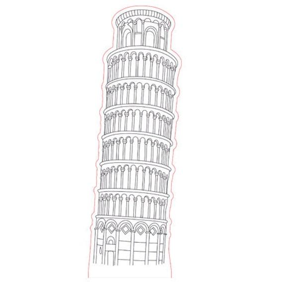 Lamp 3D design: Tower of Pisa Italy