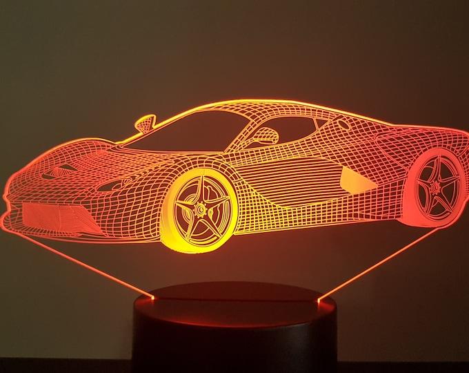 Lamp 3D design: Ferrari F12