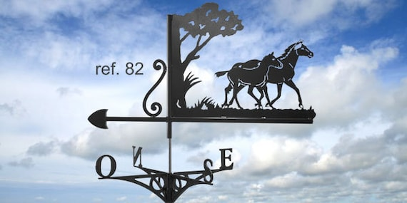 Weathervane with roof Mare and foal
