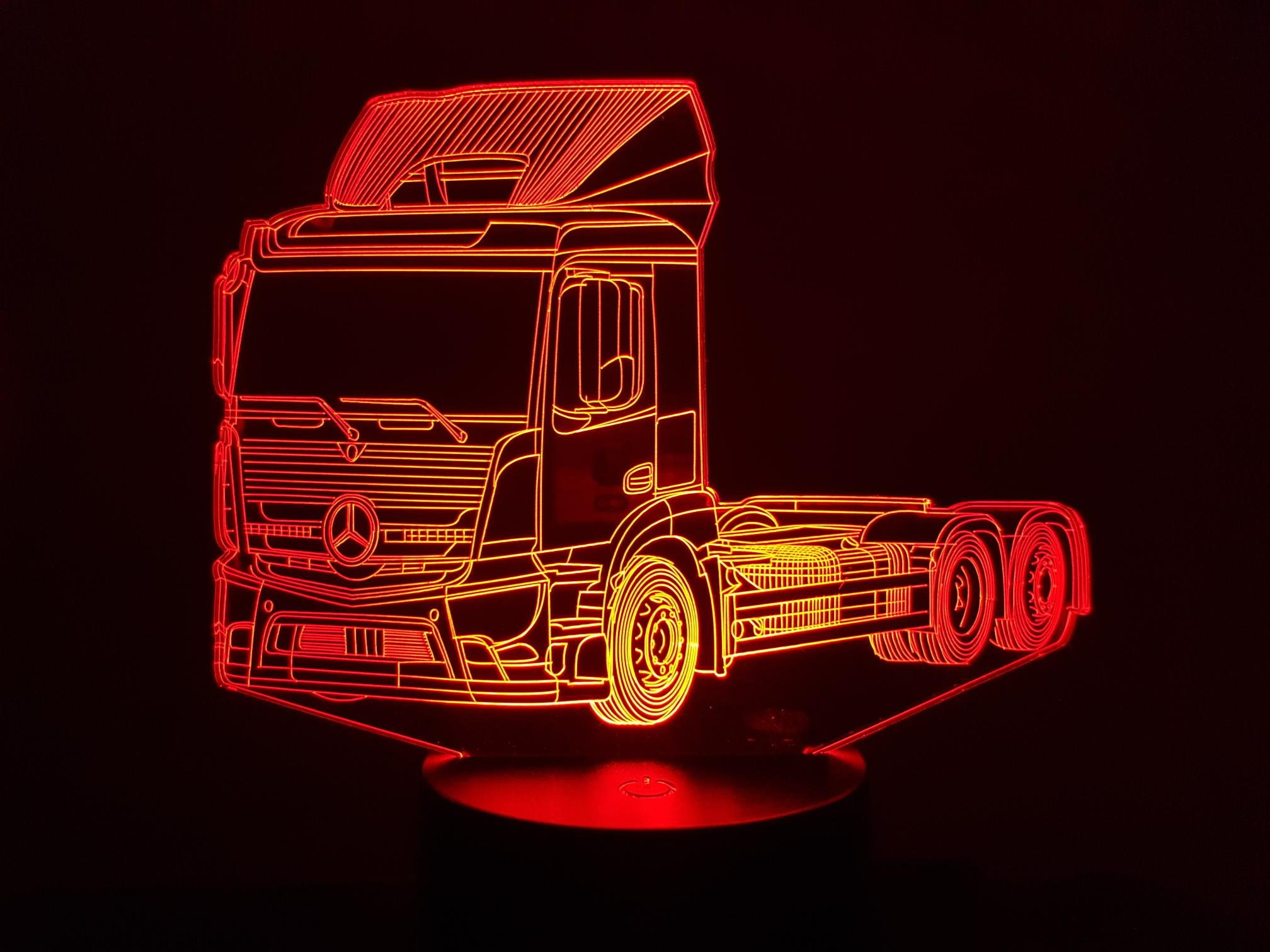 MERCEDES compatible drawing (2) - 3D LED ambient lamp