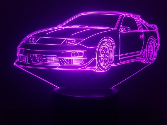 NISSAN 300 ZX - Mood lamp 3D led, laser engraving on acrylic, usb cable or battery power.