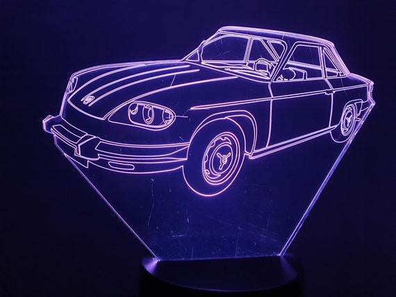 PANHARD PL 24-led 3D ambient lamp, laser engraving on acrylic, battery power or USB cable.
