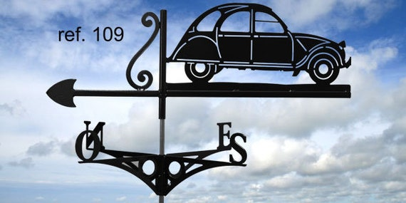 Weathervane with roof Citroen 2CV
