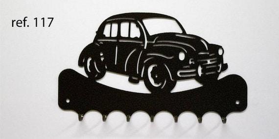 Hangs 26 cm pattern metal keys: Renault 4CV