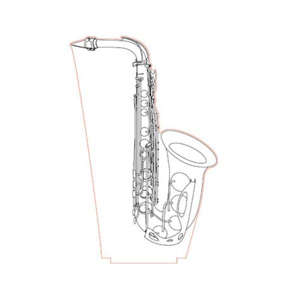 Lamp 3D pattern: Saxophone