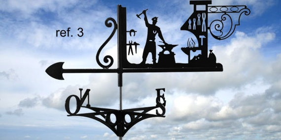 Weathervane with roof blacksmith