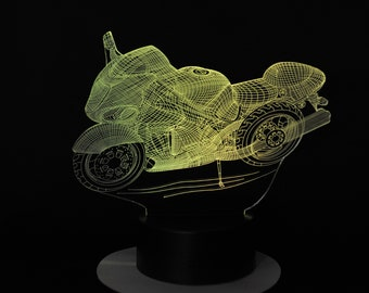 Lamp 3D pattern: Wired motorcycle