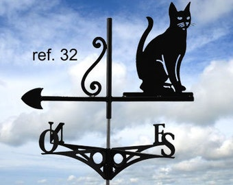 Weathervane with roof sitting cat