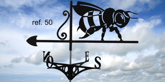 Weathervane with roof bee