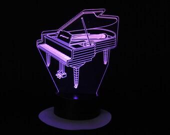 Lamp 3D pattern: piano