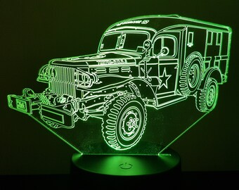 Lamp 3D pattern: Dodge military WC54