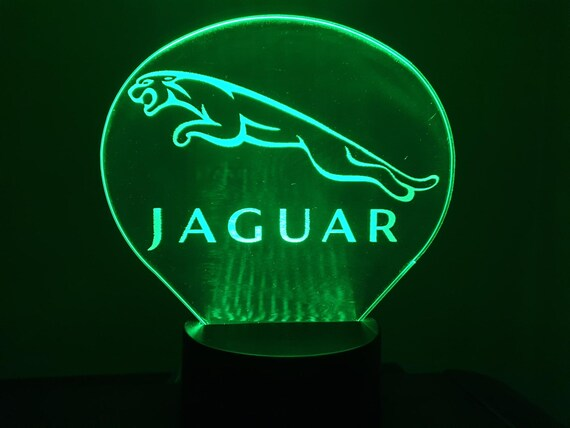 JAGUAR (L) - Mood lamp 3D led, laser engraving on acrylic, usb cable or battery power.