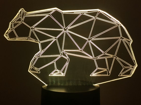 Lamp 3D pattern: Wired bear