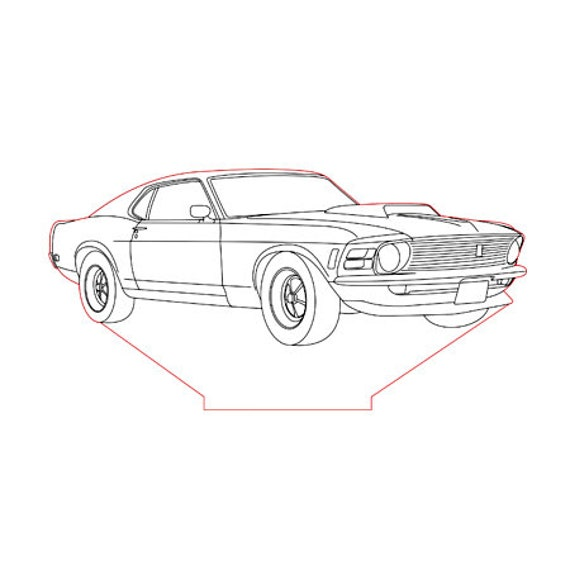 Lamp 3D design: Ford Mustang 1969